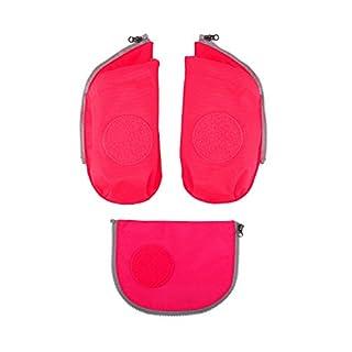 Ergobag Zubehör und Accessoires Sichherheitsset Cubo 3-tlg mit Seitentasche Pink 511 pink