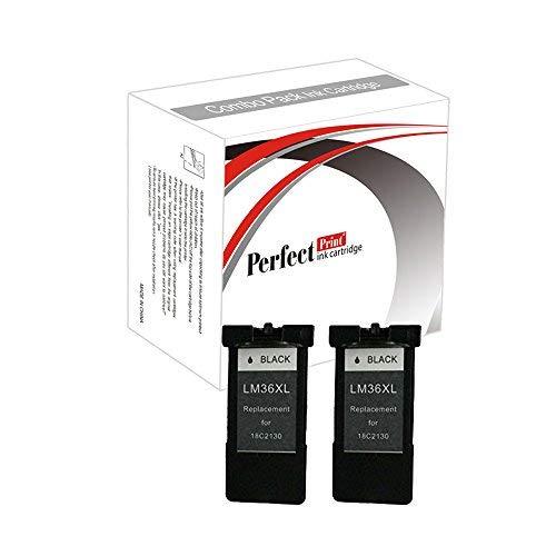 Compatible con las impresoras siguientes Lexmark X3650 X4650 X5650 X6650 X6675 Z2420 Impresoras Paquete incluido 2 x Negro Tinta Cartucho Ersetzen 36XL 21ml en Negro Consejos antes de la instalación 1) P...
