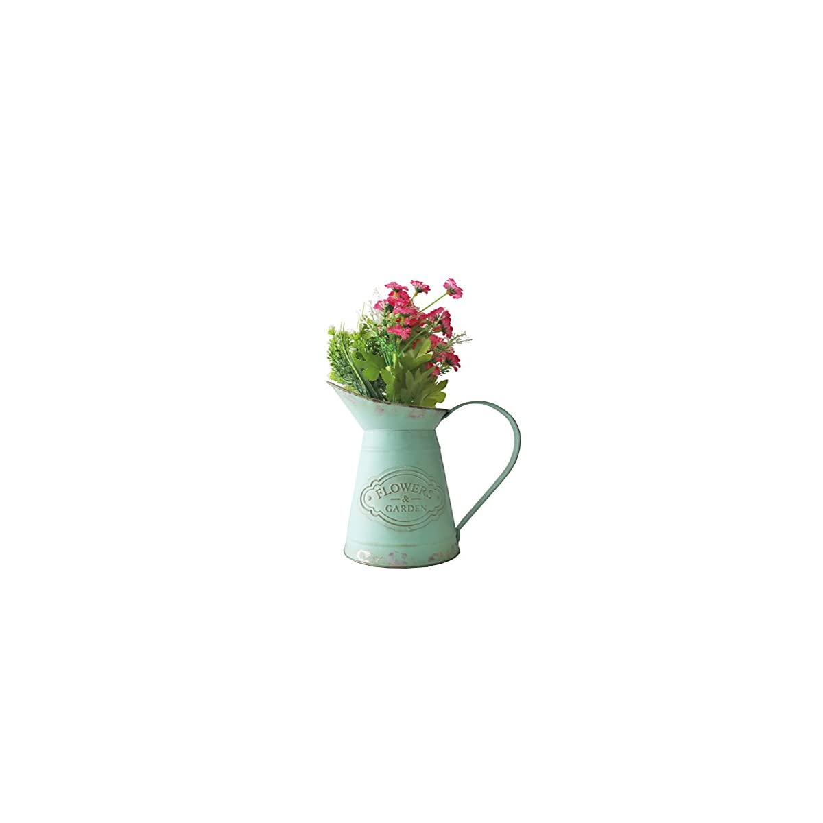 Metall Pflanztopf Gießkanne Flowers Garden Vintage Blumentopf Deko Landhaus 26cm