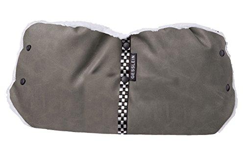 Gesslein Muff-Handwärmer Leder graphit - Graphit Leder