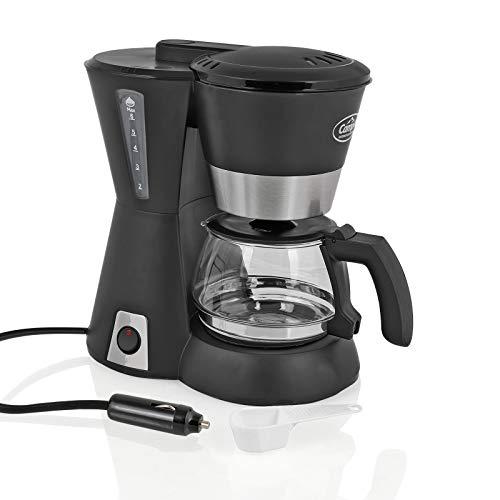 Camp4 Kaffeemaschine 12 Volt, 170W, 600ml, schwarz für Camping, Auto, Boot (12v Kaffeemaschine)