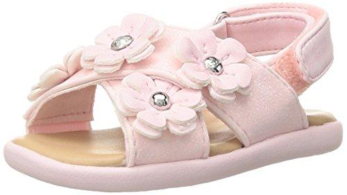 UGG Girls I Allairey Sparkles Flat Sandal, Seashell Pink, 6-7 M US Infant