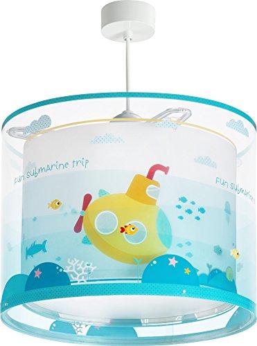 LED Kinderlampe Seefahrt U-Boot Fische Wasser Meer 41302Farbwechsel RGB-WW 420 Lumen Mädchen & Jungen Kinderzimmerlampe Deckenlampe -