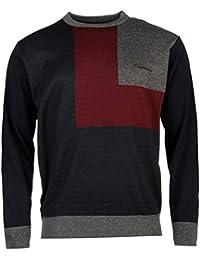 Pull PIERRE CARDIN Homme Col Rond Style Design en 3 Couleurs
