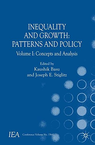 Inequality and Growth: Patterns and Policy: Volume I: Concepts and Analysis