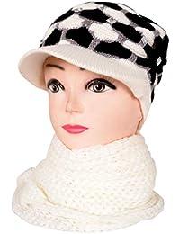 Vbirds Combo Winter Woollen Cap Muffler in Women