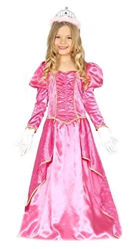 Mädchen rosa Prinzessin Pfirsich Fee Märchen Mario Kostüm Kleid Outfit 3-12 Jahre - Rosa, 3-4 (Mario Outfit Mädchen)