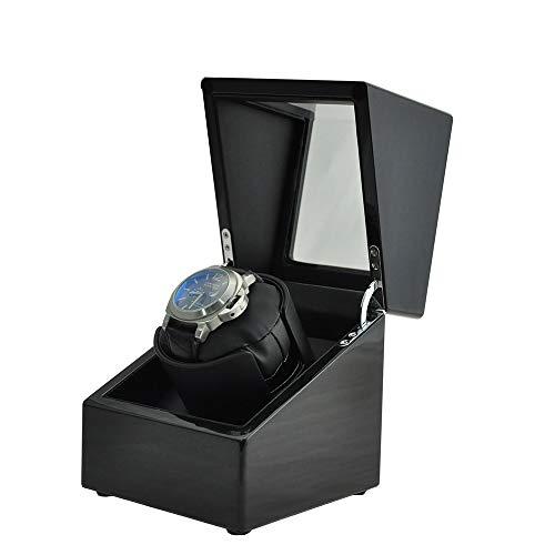 Schwarzer Uhrenbeweger Automatisch, Mechanische Uhr dreht die Uhrenbox automatisch mit Led Light, Japanese Silent Motor -