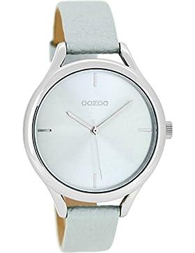 Oozoo Damenuhr mit Lederband 38 MM Eisblau/Eisblau C8346