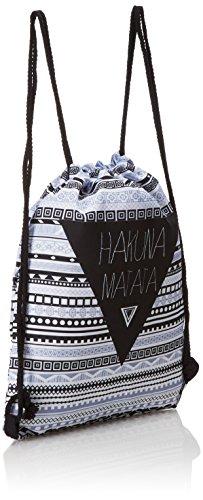 Loomiloo HMA - Mochila saco con asas de cuerda, estilo hipster con...