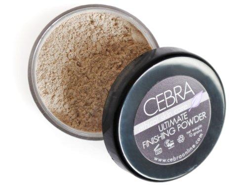 Cebra Ethical Skincare Finition Poudre Visage – Ultimate – Utilisation comme un réglage Poudre ou comme une poudre fond de teint sur sa propre pour les peaux très pâle – Peut être appliqué en plusieurs couches pour couverture complète