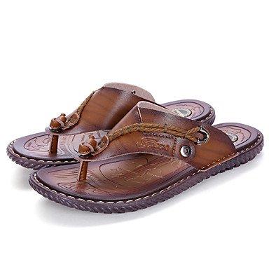 Slippers & amp da uomo;Estate Comfort Light Soles microfibra esterna casuale Tallone piano Acqua Sho sandali US9.5 / EU42 / UK8.5 / CN43