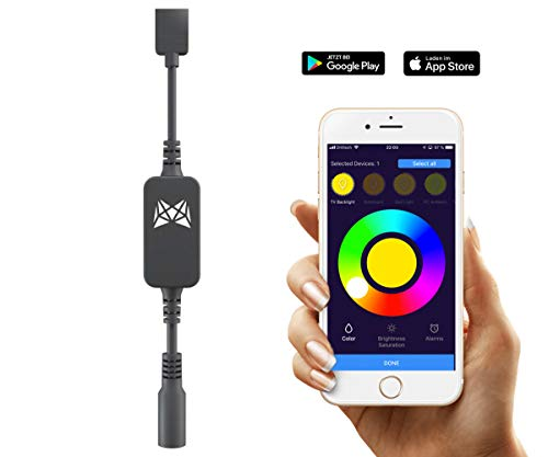 MESHLE flex: LED RGB Controller für Licht Streifen 5-24V mit iOS Android App Bluetooth Netzwerkfunktion, Gruppen, Wecker, Dimmer, Farbe, Helligkeit, Sättigung