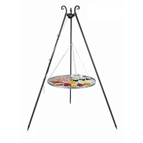 Schwenkgrill mit Dreibein und Rost (Rost 60cm)