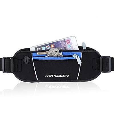 URPOWER® Superior Wasserdicht Bauchtasche / Hüfttasche / Lauftasche / Running Belts mit 4CM Gummibänder und 3M Reflektierende Strippe - Größe Passt Apple iPhone 4, 4S, 5, 5S, 5C, 6, 6 plus, Blu Advance, BlackBerry Passport, Google Nexus 4, 5, Huawei