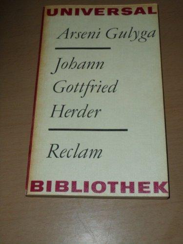 Johann Gottfried Herder. Eine. Einf. in seine Philosophie.