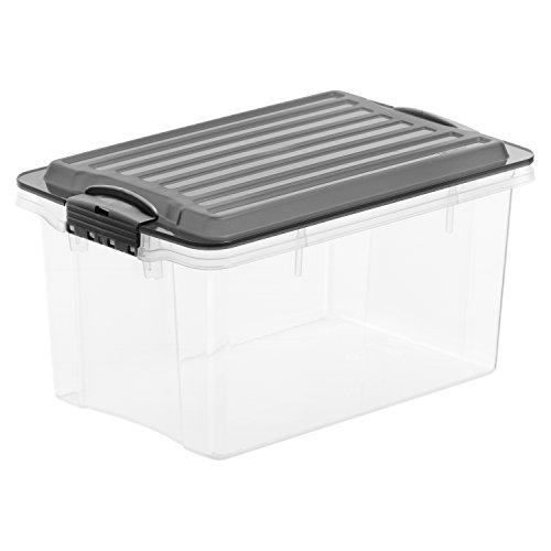 Rotho 1776208812 Aufbewahrungskiste Compact mit Deckel, Lager Box aus Kunststoff im DIN A5 Format,...
