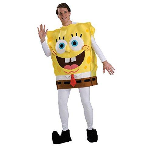 (Herren Deluxe Charakter Kostüm Spongebob Schwammkopf)