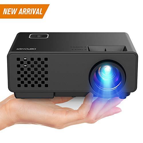 DBPOWER Mini Beamer, 2000 Lumen HD 1080P LED Video Projektor mit 176' Display, 50.000 Lebensdauer, Heimkino Projektor Kompatibel mit Amazon Fire TV Stick, HDMI/VGA/AV/USB, Multimedien Heimkino Entertainment