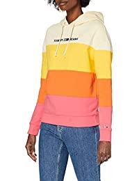 Tommy Hilfiger Tjw Colorblock Hoodie Suéter para Mujer