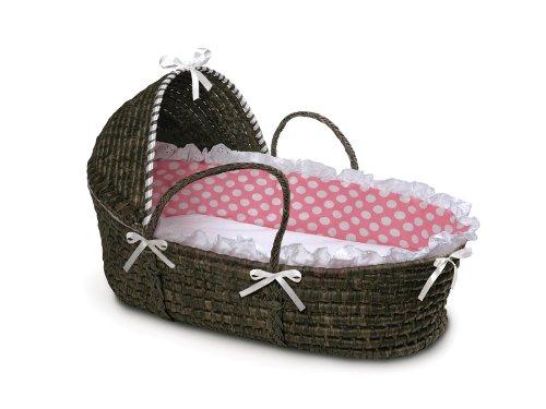 Badger Basket Moses Korb mit Polka Dot Kapuze und Betten (Korb Dot Polka)