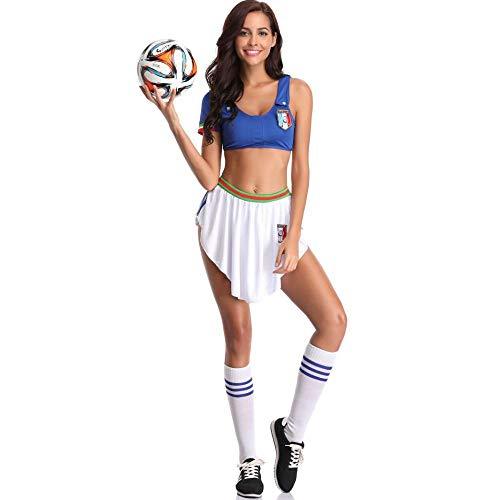 WWAVE Sexy Fußball Babe Cheerleader Kostüm Cheerleader Kostüm Kostüm Leistung Kostüm Bühne verkleiden