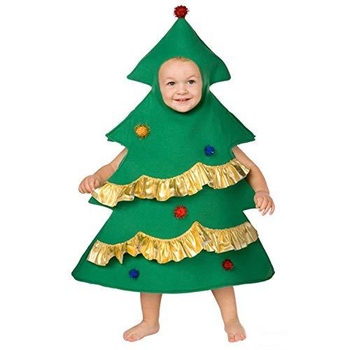 Kinder Weihnachtsbaum Kostüm Festliche Parteien Kleidung Jungen und Mädchen - (Weihnachtsbaum Kostüm Kind)