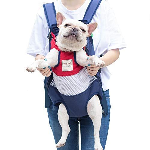 PETTOM Borsa Frontale per Cani Morbido Marsupio Tela Zaino Cane Traspirante Leggero Taglia Piccola Media Cane Gatto Fino a 12kg per Viaggio Passeggiata