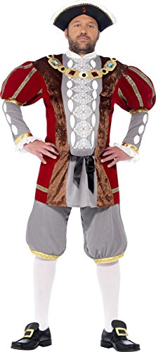 Amazon Henry Kostüm Viii (Smiffy's 43431XL - Henry VIII Deluxe Kostüm mit Jacke und)