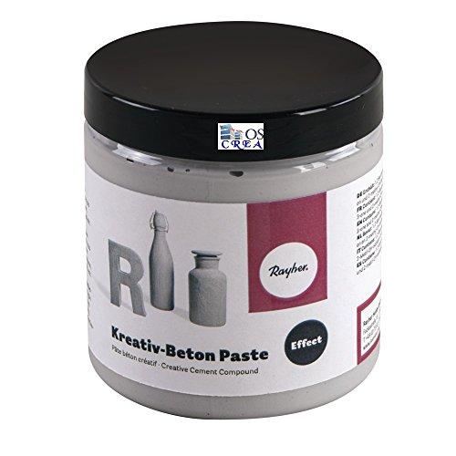 Rayher Kreativ-Beton Paste, Dose 250 ml, Diverse, Betongrau, 0.71 x 0.71 x 0.8 cm