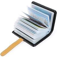 Hongyantech Titular de la Tarjeta de crédito Negro Titular de la Tarjeta de los Hombres de Las señoras Titular de la Tarjeta de Visita Titular de la Tarjeta de Visita para 30 Tarjetas