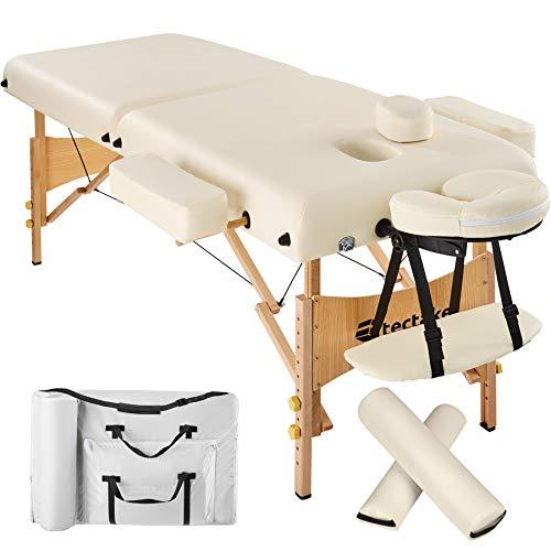 Photo de tectake-table-lit-de-massage-pliante-portable-epaisseur
