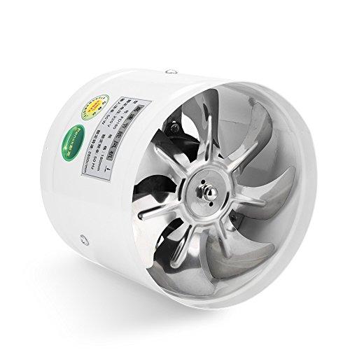Ventilador de pared con ventilación redonda, ventilador de escape, bajo nivel de ruido para baño...