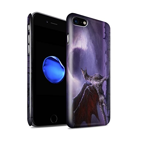 Offiziell Chris Cold Hülle / Glanz Snap-On Case für Apple iPhone 7 / Hohe Königin Muster / Dunkle Kunst Dämon Kollektion Drachen/Finsternis