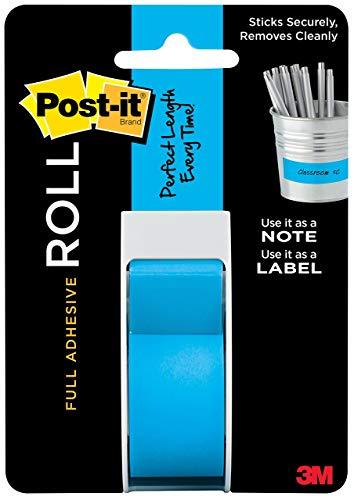 Post It Full Adhesive Roll 1'X400' Mediterannean Blue