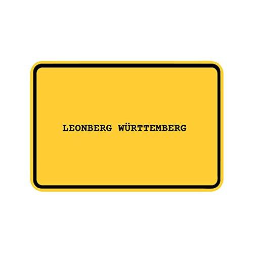 JOllify Aufkleber - LEONBERG WÜRTTEMBERG – Farbe: Design: Ortsschild