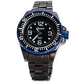 OULM 3916Big quadrante rotondo orologio al quarzo Giappone Acqua Resistenza cinturino in acciaio inox Rotazione Cornice maschio orologio da polso -