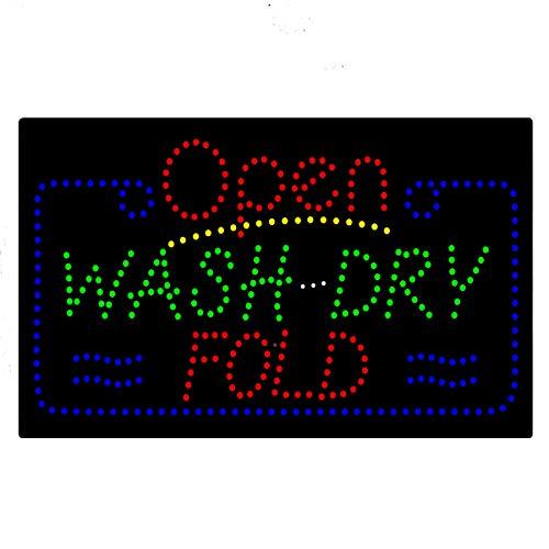 Pizarra de luz LED para limpieza de lavandería