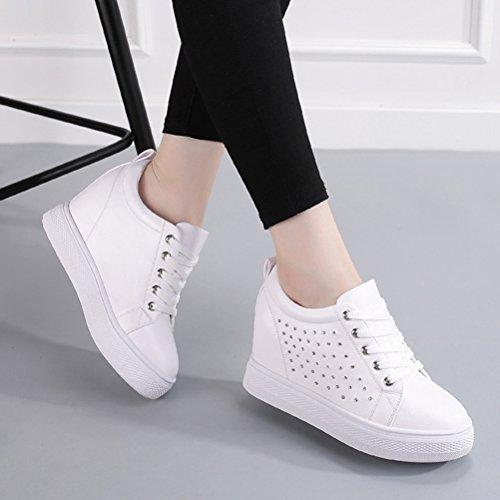 Damen Sneakers Laufschuhe Sportschuhe Turnschuhe Weiß