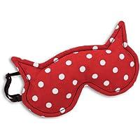 Schlafmaske, Die Katze Luna, Farbe: Polka dot rot / Mitternacht: Zum Wärmen und Kühlen preisvergleich bei billige-tabletten.eu
