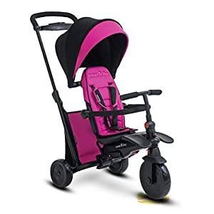 smarTrike smarTfold 500 Folding Baby Tricycle for 1 Year Old, Pink   10