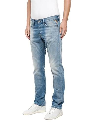 Replay Waitom, Jeans Uomo Blu (Blue Denim)