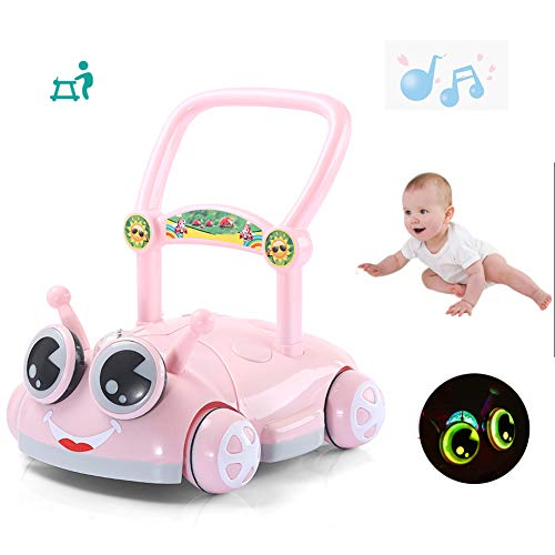 HBIAO Girello Bambino 6/7-18 Mesi Toy Walker con Music Baby Tapis roulant Wheelbarrow velocità Regolabile Baby Toddler Baby Walker