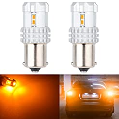 Katur 1156estremamente luminoso 1080LM ambra BA15s 11417506LED Lampadina di ricambio ad alta potenza 24W 12SMD 3020chipset RV camper SUV Monovolume auto di segnalazione lampadine coda freno luce di retromarcia (confezione da 2)