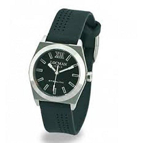 Watch Locman Locman Women 020400BKFNK0SIK. Quartz (Rechargeable) Titanium quandrante Black Silicone Strap