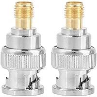 Conector BNC macho a SMA hembra RF BNC-J/SMA-K Convertidor adaptador coaxial Gold-plated Copper Core Test Converter 2Pcs