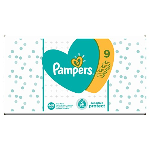 Pampers sensitive protect 468 - salviette umidificate, 9 x 52 pezzi