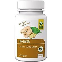 Raab Vitalfood Bio-Ingwer Kapseln, 80 Kapseln, 1-er Pack (1 x 32 g) - Bio
