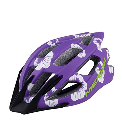 WRGWEHG Fahrradhelm Special Cycling Fahrradhelm/Rollschuhlaufen / Damen Roller Skating Schutzhelm, Grape Purple