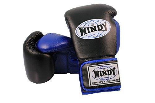 Windy BGP Box guanti in vera pelle-Champions amano quella di qualità-Vestibilità perfetta e universale adatto per la lotta-Scatole Sport-boxing, Muay Thai, Kick SCATOLE Thai SCATOLE, K1, Blau, 230 ml